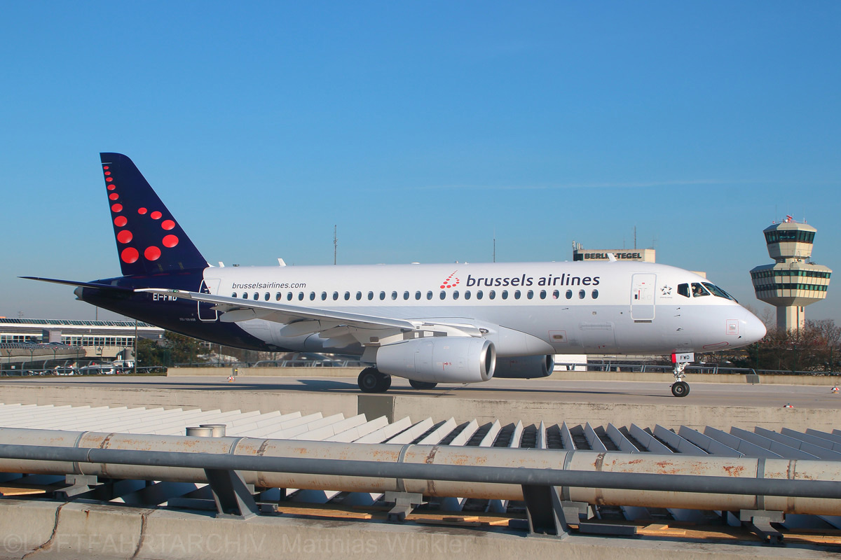 Brussels Airlines, Sukhoi SSJ-100 EI-FWD