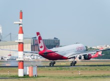 Start eines Airbus A330 der Air Berlin am Tegel Airport (Foto: G. Wicker/FBB)
