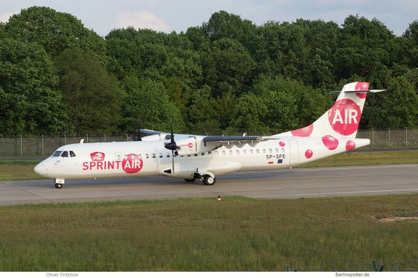 Sprint Air, ATR72-200 SP-SPE (TXL 20.5. 2017)