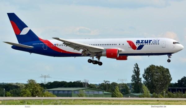 Azur Air Germany, Boeing 767-300ER D-AZUC (SXF 23.7. 2017)