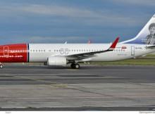 Norwegian Air International, Boeing 737-800(WL) EI-FVL, Rosalia de Castro im Tail (SXF 2.7. 2017)