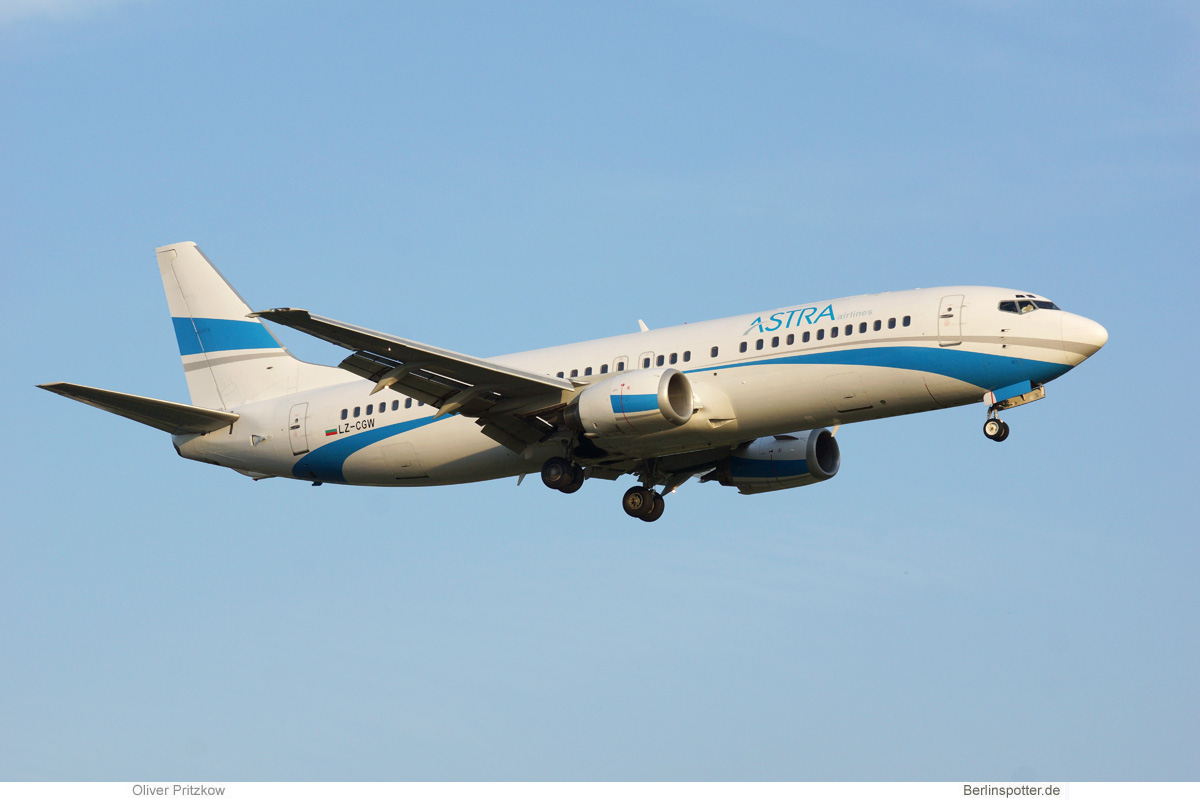 Astra Airlines Boeing 737-400 LZ-CGW