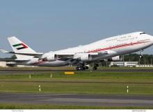 Dubai Air Wing, Boeing 747-400 A6-MMM (TXL 14.8. 2017)