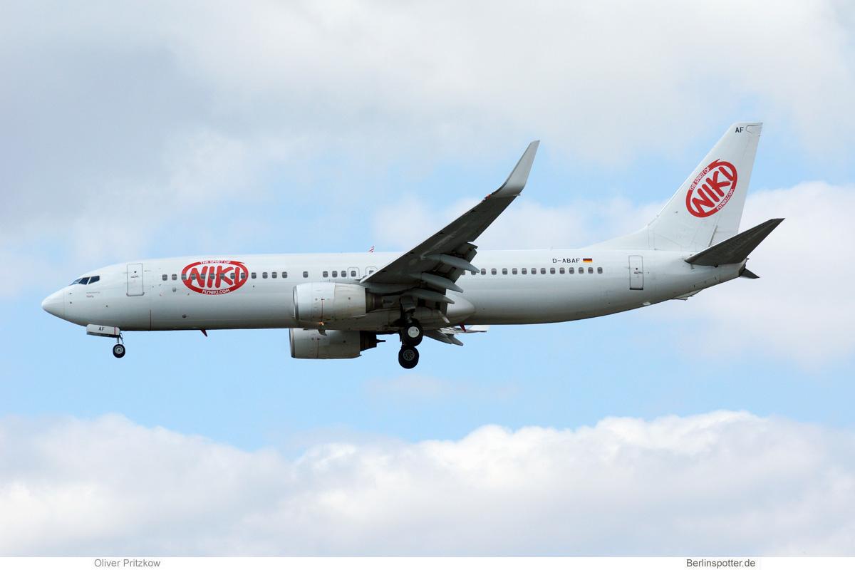 Niki Boeing 737-800(WL) D-ABAF