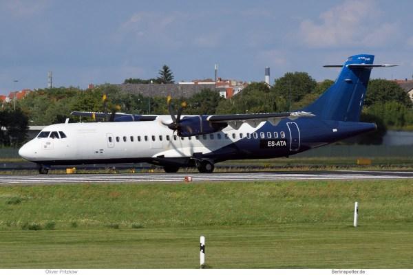 Nordica, ATR72-500 ES-ATA, basic InterSky cs. (TXL 27.8. 2017)
