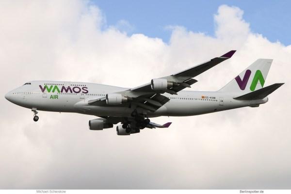 Wamos Air, Boeing 747-400 EC-KSM (TXL 22.9. 2017)