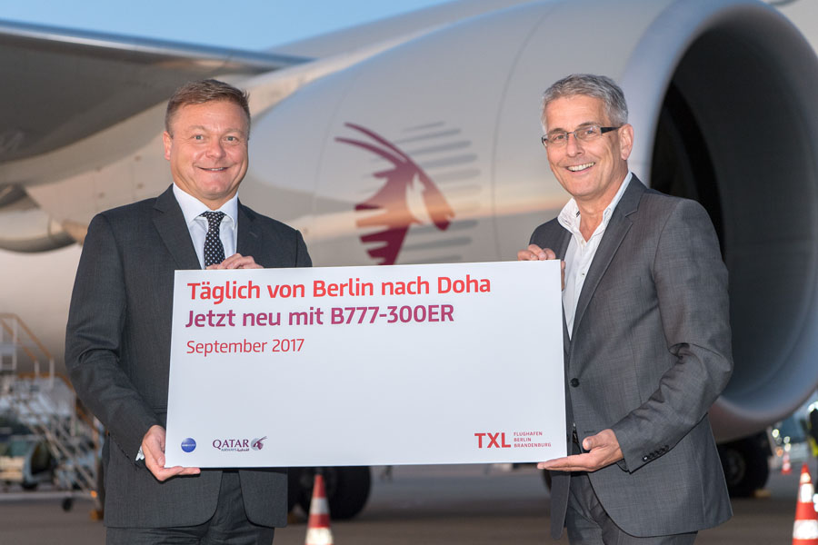 Qatar Airways bringt 777-300ER nach Berlin