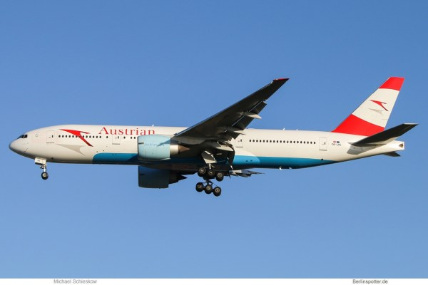 Austrian Airlines Boeing 777-200ER OE-LPE (TXL 30.10. 2017)