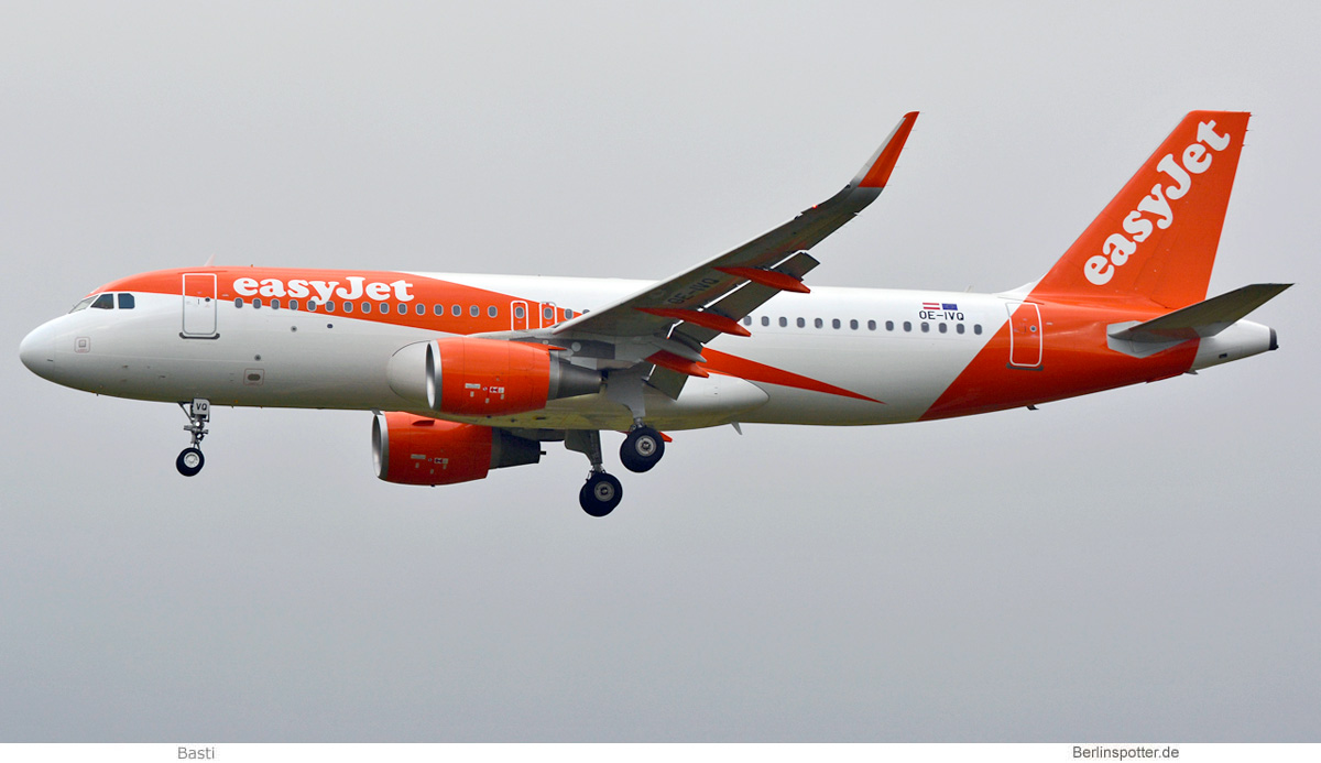 easyJet Europe Airbus A320-200(SL) OE-IVQ