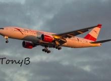 Austrian Airlines Boeing 777-200ER OE-LPD, Sound of Austria (TXL 18.12. 2017)