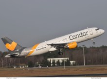 Condor Airbus A320-200 D-AICE (TXL 9.1. 2018)