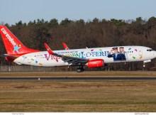 Corendon Dutch Airlines, Boeing 737-800(WL) PH-CDF, Vrienden Loterij-Bemalung (TXL 8.1. 2018)