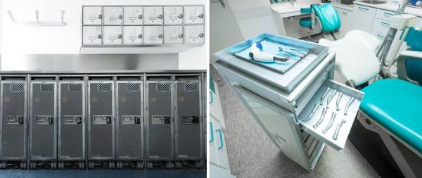 Trolleys in einem Vorratsraum sowie in einer Zahnarzt-Praxis (© Wingdesign)