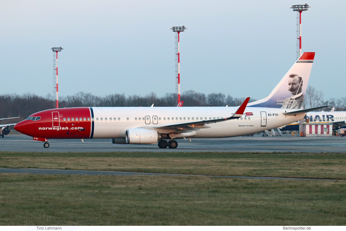 Norwegian Air International Boeing 737-800(WL) EI-FVI