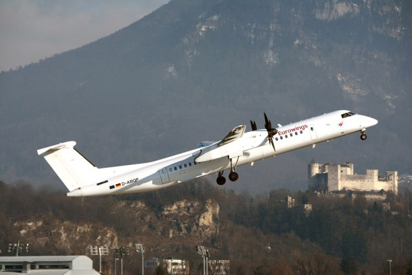 Eurowings Bombardier Q400 (© SZG Airport)