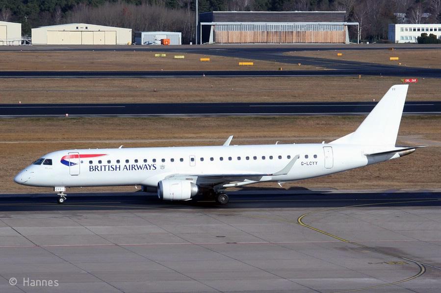 BA CityFlyer Embraer 190SR G-LCYY