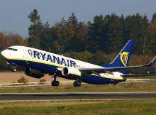 Start einer Boeing 737-800 der Ryanair (Foto: Ryanair)