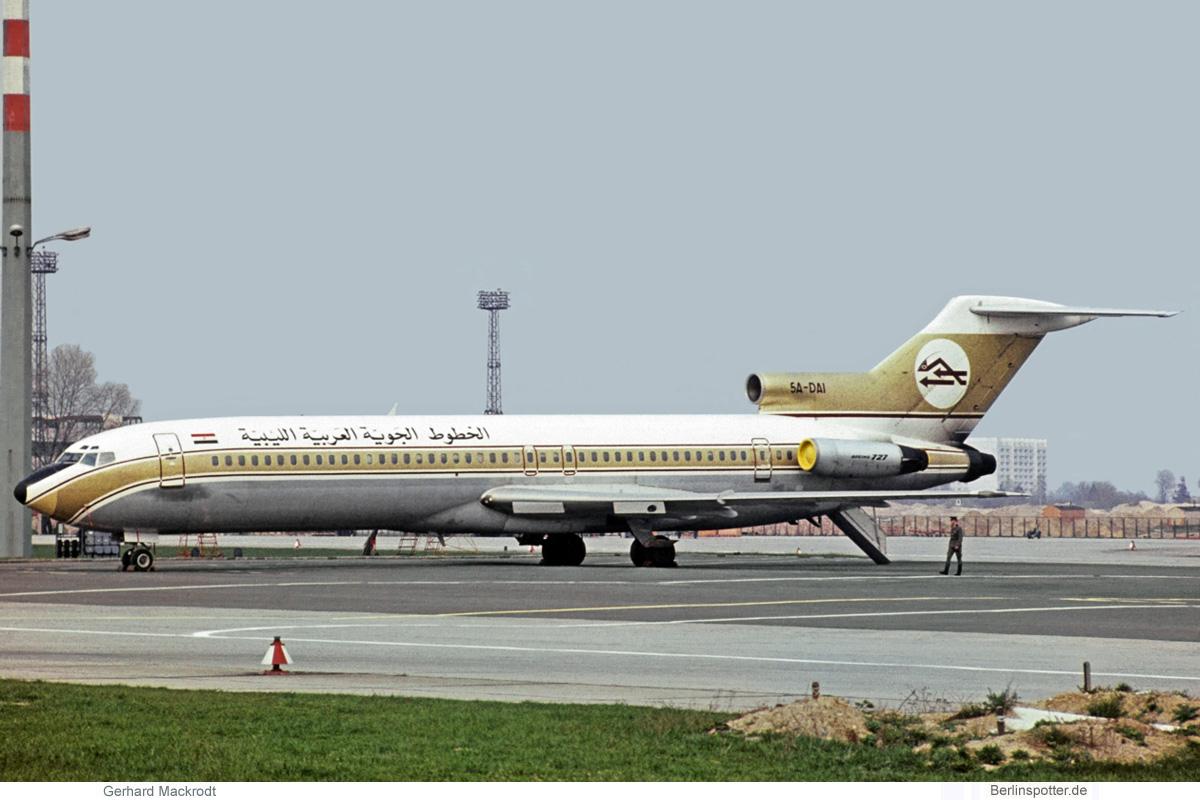 Libyan Arab Airlines Boeing 727-200 5A-DAI