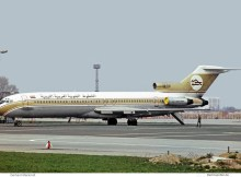 Libyan Arab Airlines, Boeing 727-200 5A-DAI (SXF 23.5. 1975)
