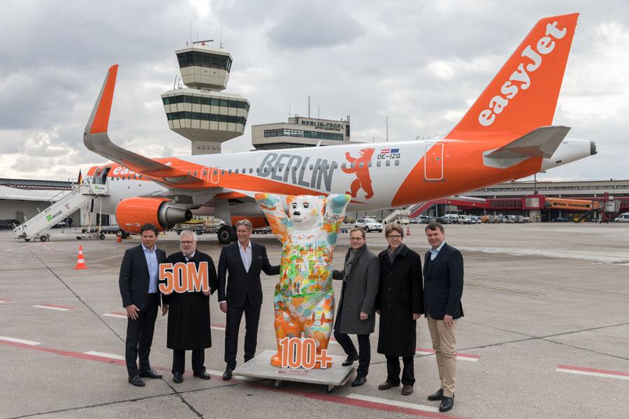 EasyJet jetzt größte Airline ab Tegel