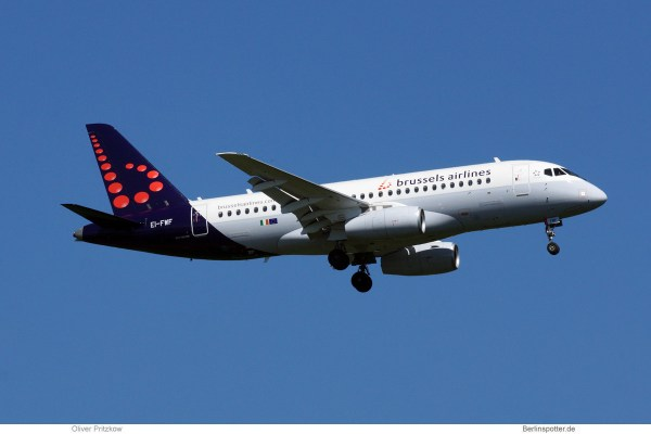 Brussels Airlines, Sukhoi SSJ-100 EI-FWD, opb Cityjet (TXL 6.5. 2018)