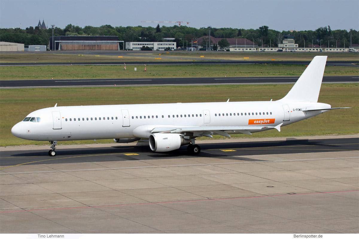 easyJet Airbus A321-200 G-POWU