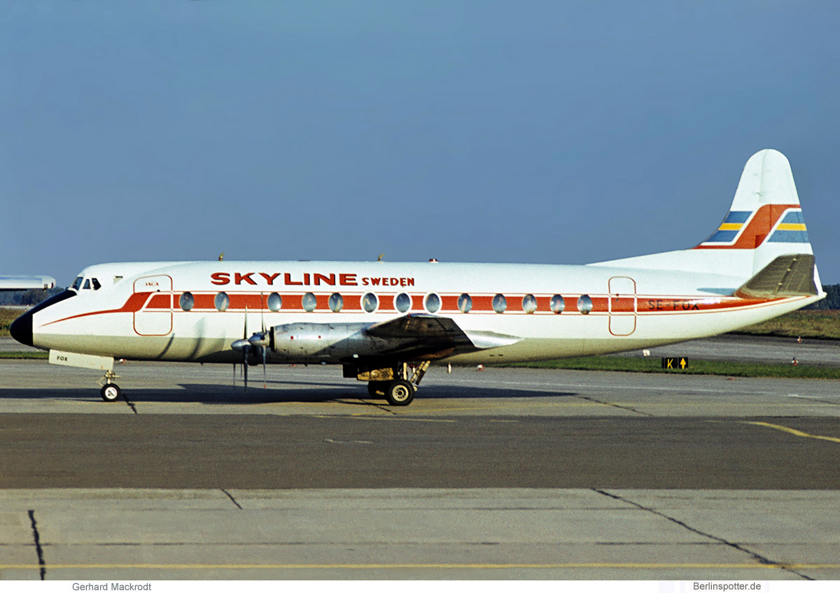 Skyline Sweden Vickers Viscount 800 SE-FOX