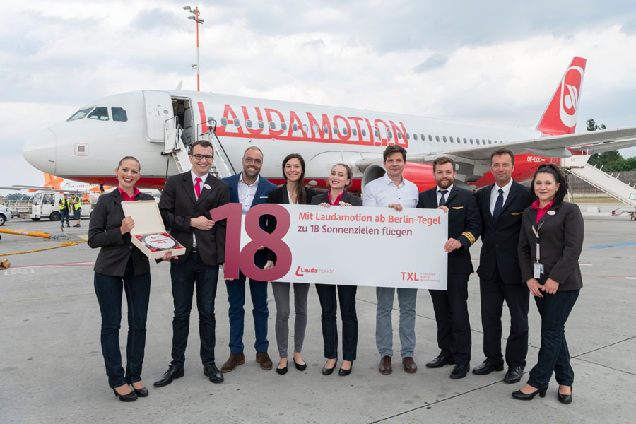 Laudamotion startet in Berlin