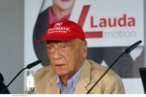 Niki Lauda während der Pressekonferenz zum neuen Winterflugplan 2018/19 (© O. Pritzkow)