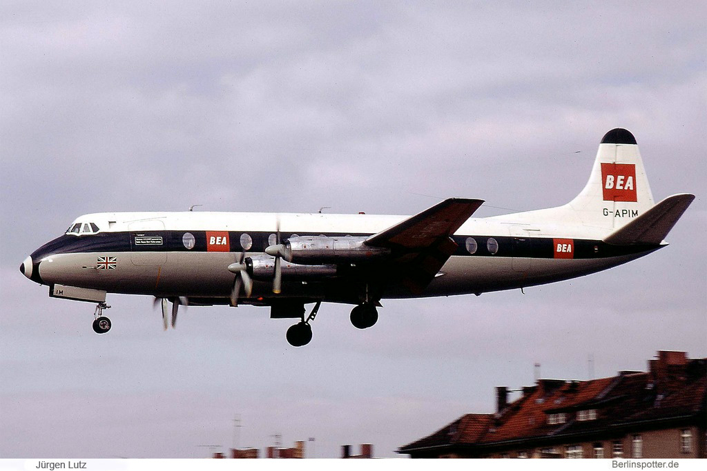 BEA British European Airways Vickers Viscount 806 G-APIM