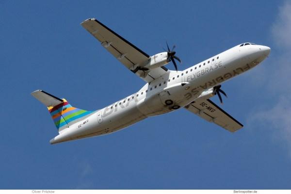 BRA Braathens Regional, ATR72-600 SE-MKG (TXL 27.7. 2018)