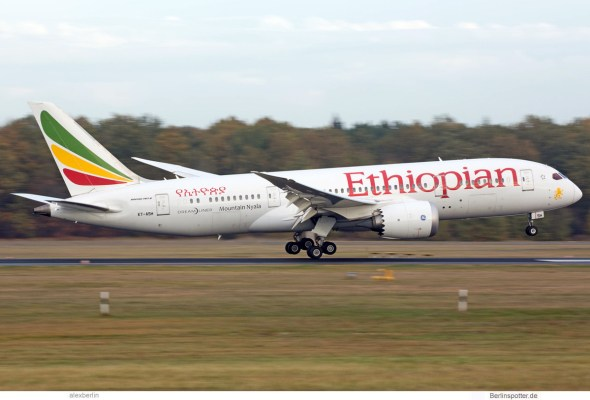 Ethiopian Airlines, Boeing 787-8 ET-ASH (TXL 30.10.2018)