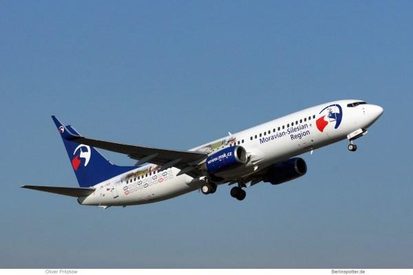 Travel Service, Boeing 737-800(WL) OK-TVO, Moravian-Silesian Region (TXL 13.10.2018)