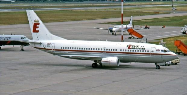 Berlin European UK, Boeing 737-300 G-EURR (TXL 05/1990)