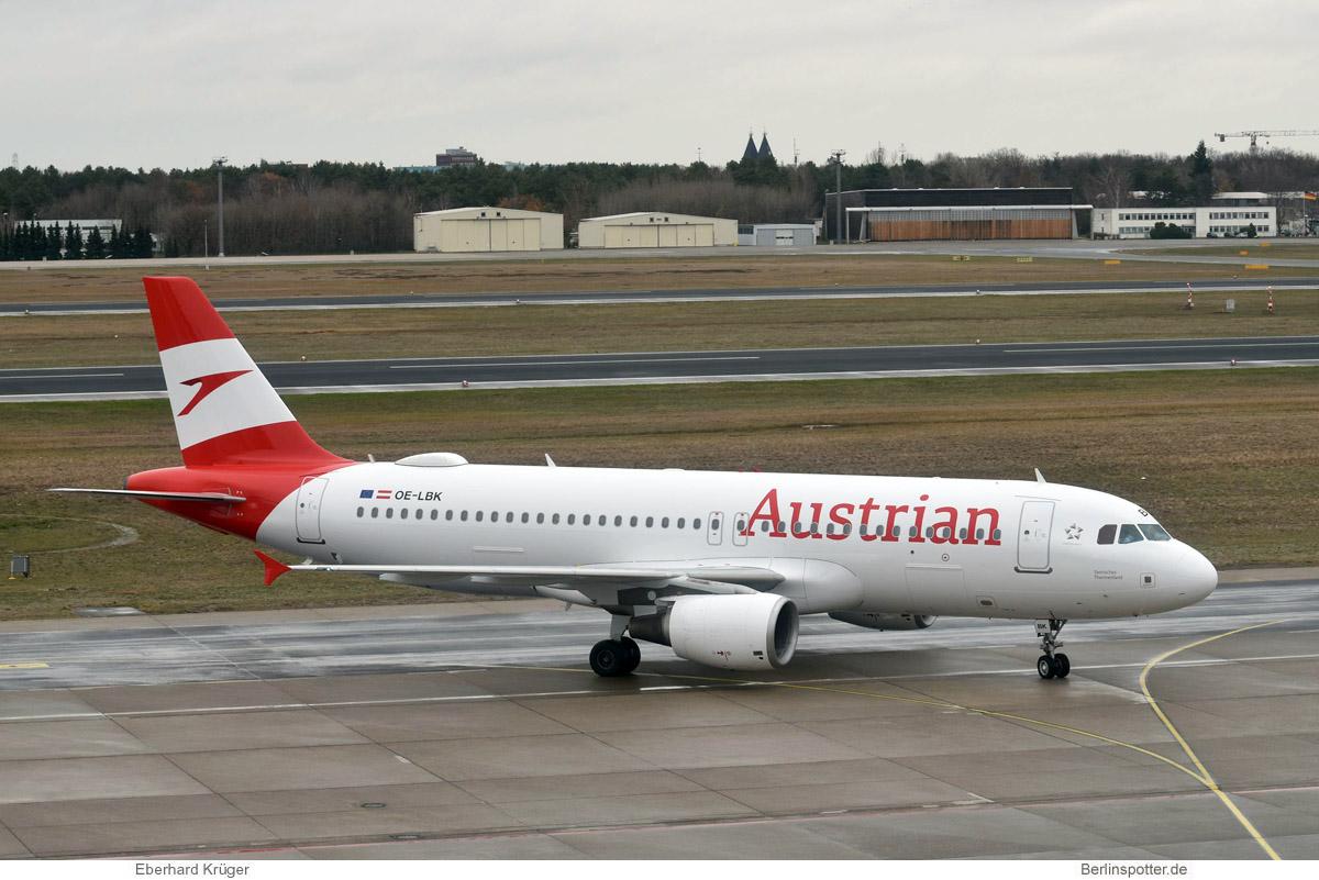 Austrian Airlines Airbus A320-200 OE-LBK