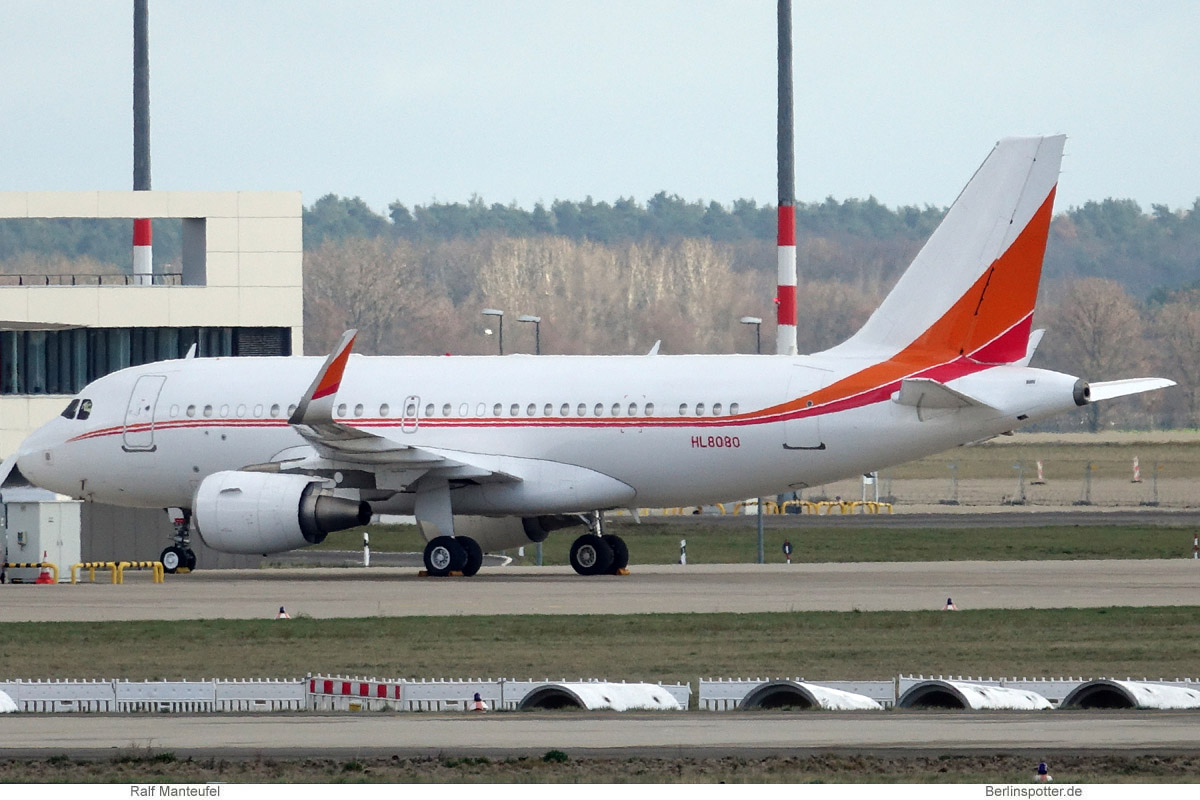 SK Telecom Airbus A319(CJ) HL8080