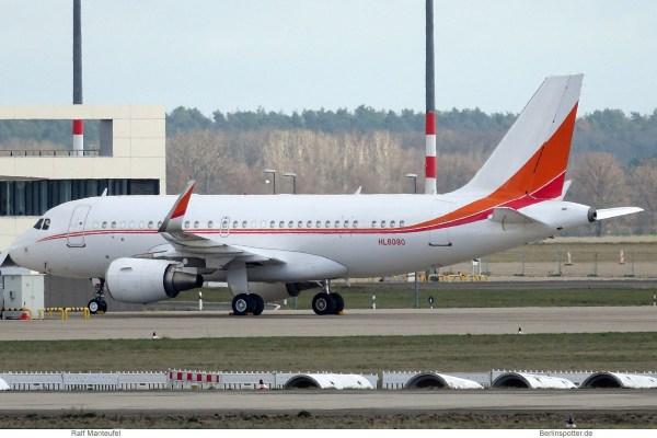 SK Telecom, Airbus A319(CJ) HL8080 (SXF/BER 10.1.2019)