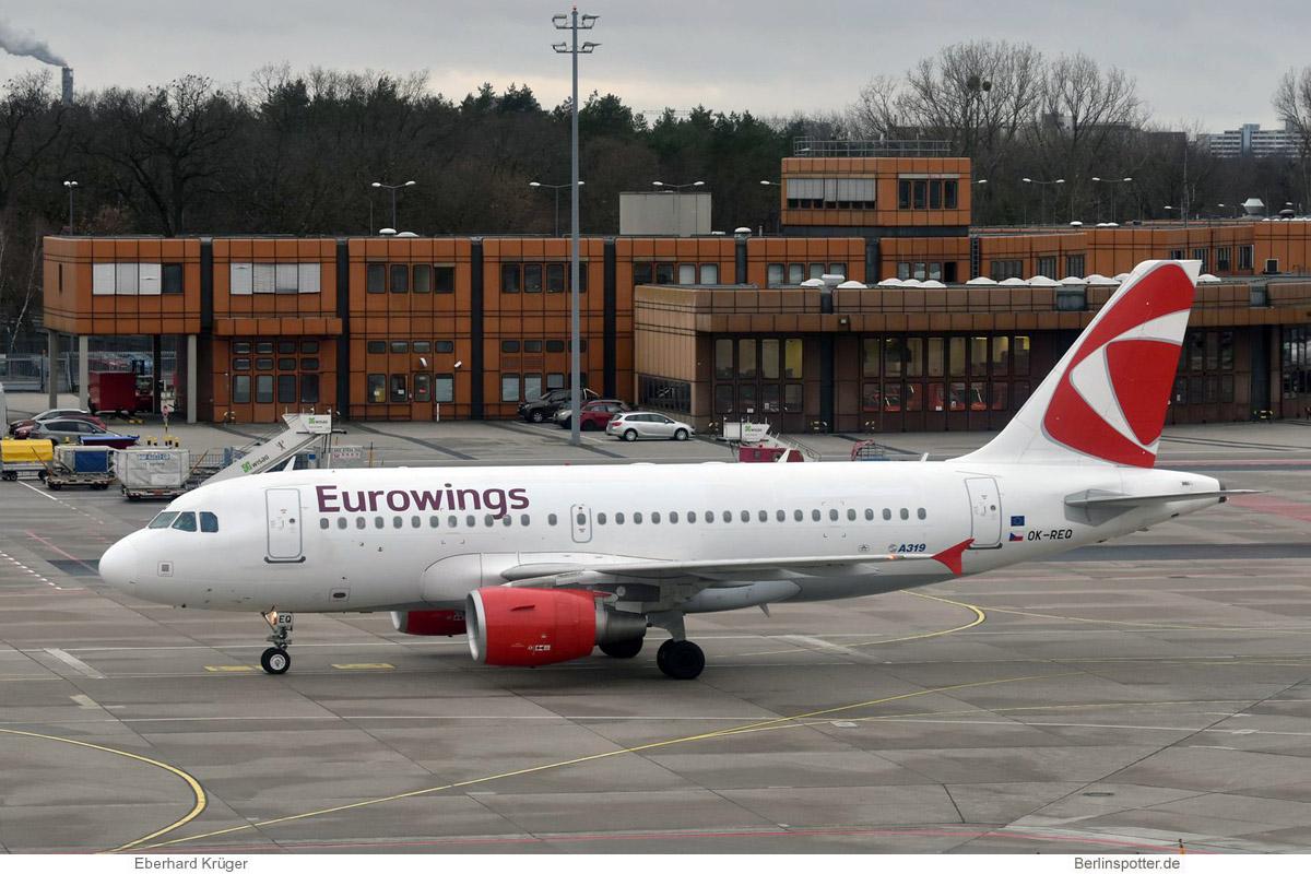 Eurowings Airbus A319-100 OK-REQ