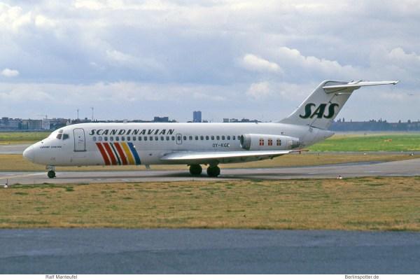 SAS Scandinavian Airlines, McDonnell-Douglas DC-9-21 OY-KGE (THF 08/1995)