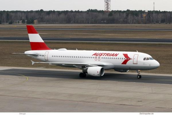 Austrian Airlines, Airbus A320-200 OE-LBO, 1980s Retro cs. (TXL 2.3.2019)