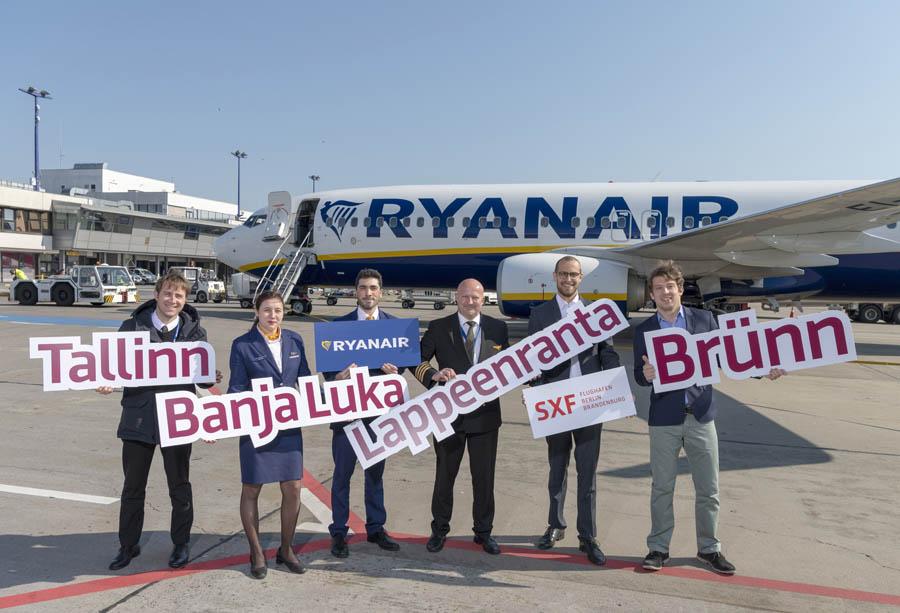 Ryanair erhöht Engagement ab Berlin