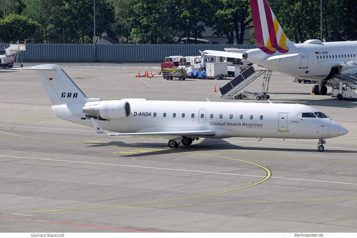 Global Reach Aviation Bombardier CRJ200 D-ANSK