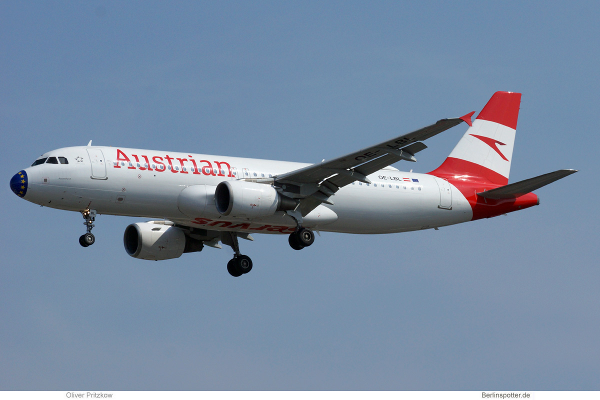 Austrian Airlines Airbus A320-200 OE-LBL