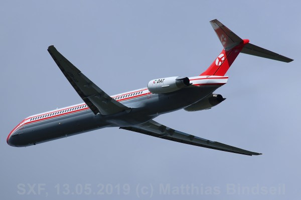 DAT Danish Air Transport, McDonnell-Douglas MD-82 OY-RUT (SXF 13.05.2019)