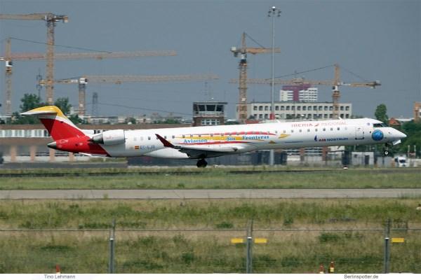 Air Nostrum – Iberia Regional, Bombardier CRJ1000 EC-LJS (SXF 6.6.2019)