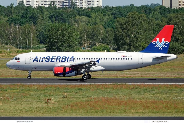 Air Serbia, Airbus A320-200 YU-APG (TXL 29.6.2019)