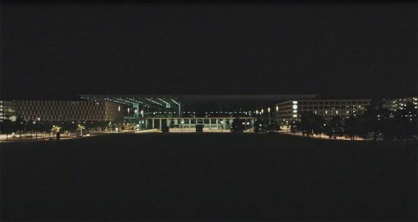 Blackbuilding-Test in der Nacht vom 12. auf den 13.8.2019 (Foto: FBB)