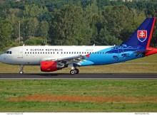Slowakei Airbus A319CJ OM-BYA (TXL 21.8.2019)