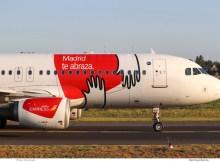 Iberia Express, Airbus A320-200 EC-MUF, Madrid-Sticker (TXL 2.9.2019)
