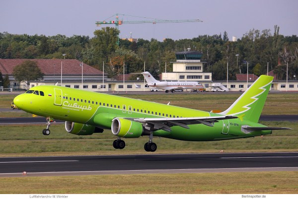 S7 Airlines, Airbus A320-200 VQ-BPN, Sibirian Airlines-Bemalung (TXL 12.9.2019)